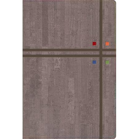 RVR 1960 Biblia de Estudio Arco Iris, gris pizarra/oliva símil - Mr Gru
