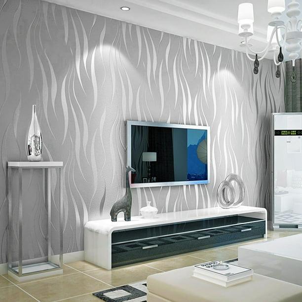 Modern Non Woven 3d Wallpapers Wave, Wallpaper For Living Room Modern