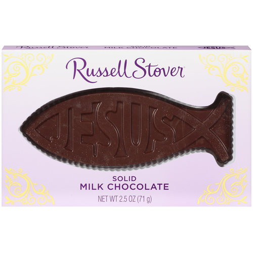 Russell Stover Easter Solid Fish Jesus Milk Chocolate, 2.5 oz