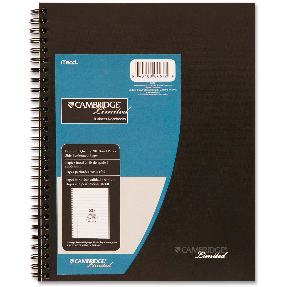 Cambridge Recycled Legal Ruled Business Notebook (06672)