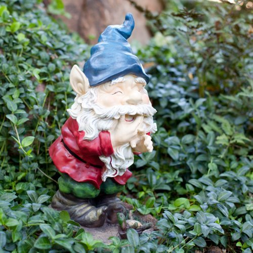 Laughing Garden Gnome Statue