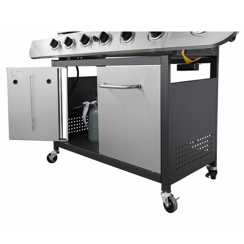 Royal Gourmet Corp Classic 6 Burner Stainless Propane Gas Grill with Side Burner