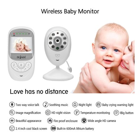 2.4'' LCD Screen Wireless Digital Baby Monitor,Baby Camera/Video Talk-Back Two-Way Audio,HD Night Vision,Temp Sensor,Baby Crying Warning Light,Stronger Signal,Clearer Image - image 9 of 12