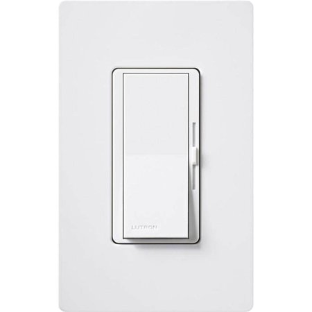 Lutron DVF-103P-277-WH Diva 277V 6A Fluorescent 3-Wire LED Single Pole 3-Way Dimmer White