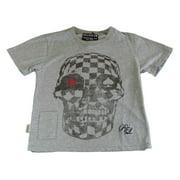 Religion Toddler Boy's Skull Printed Short Sleeve Shirt