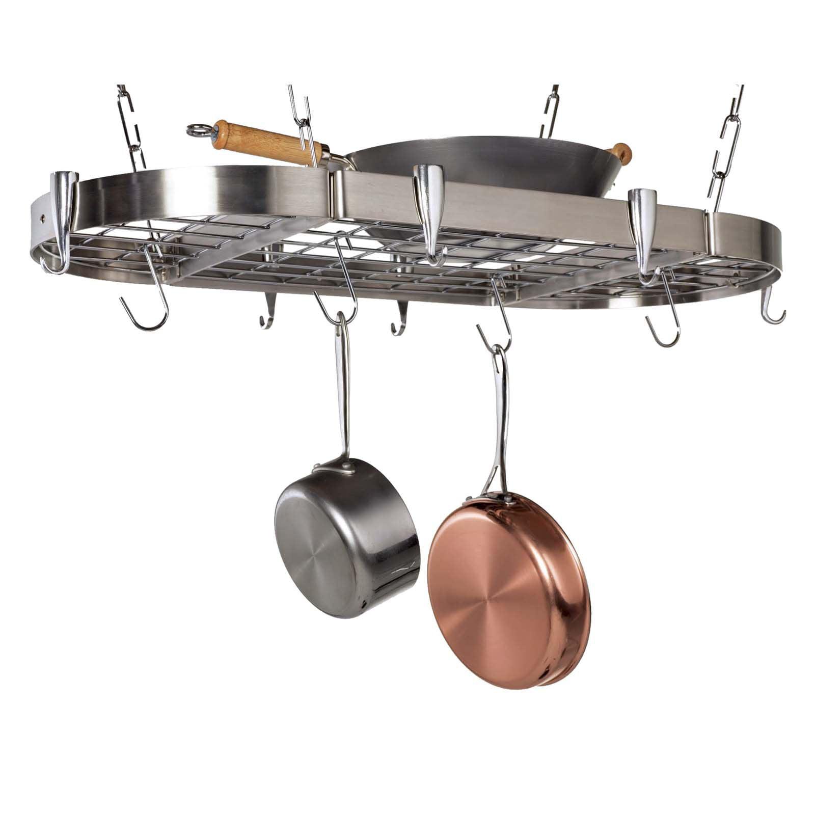 Carta Stainless Steel Oval Pot Rack