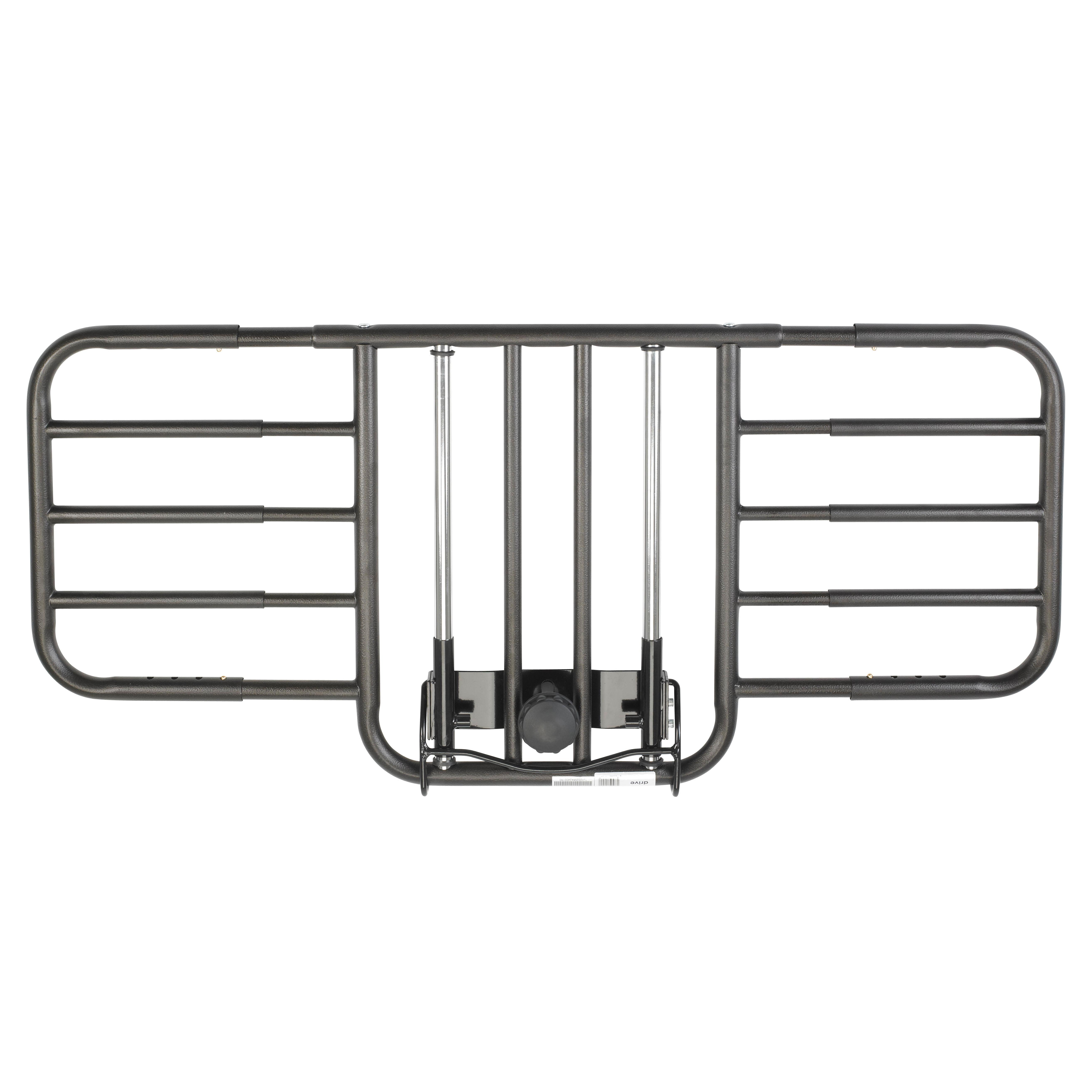 Drive Medical Tool Free Adjustable Half Length Bed Rail, 1 Pair