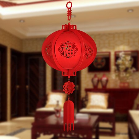 Girl12Queen Happy New Year Chinese Red Lucky Lantern Hanging Spring Festival Home Decoration