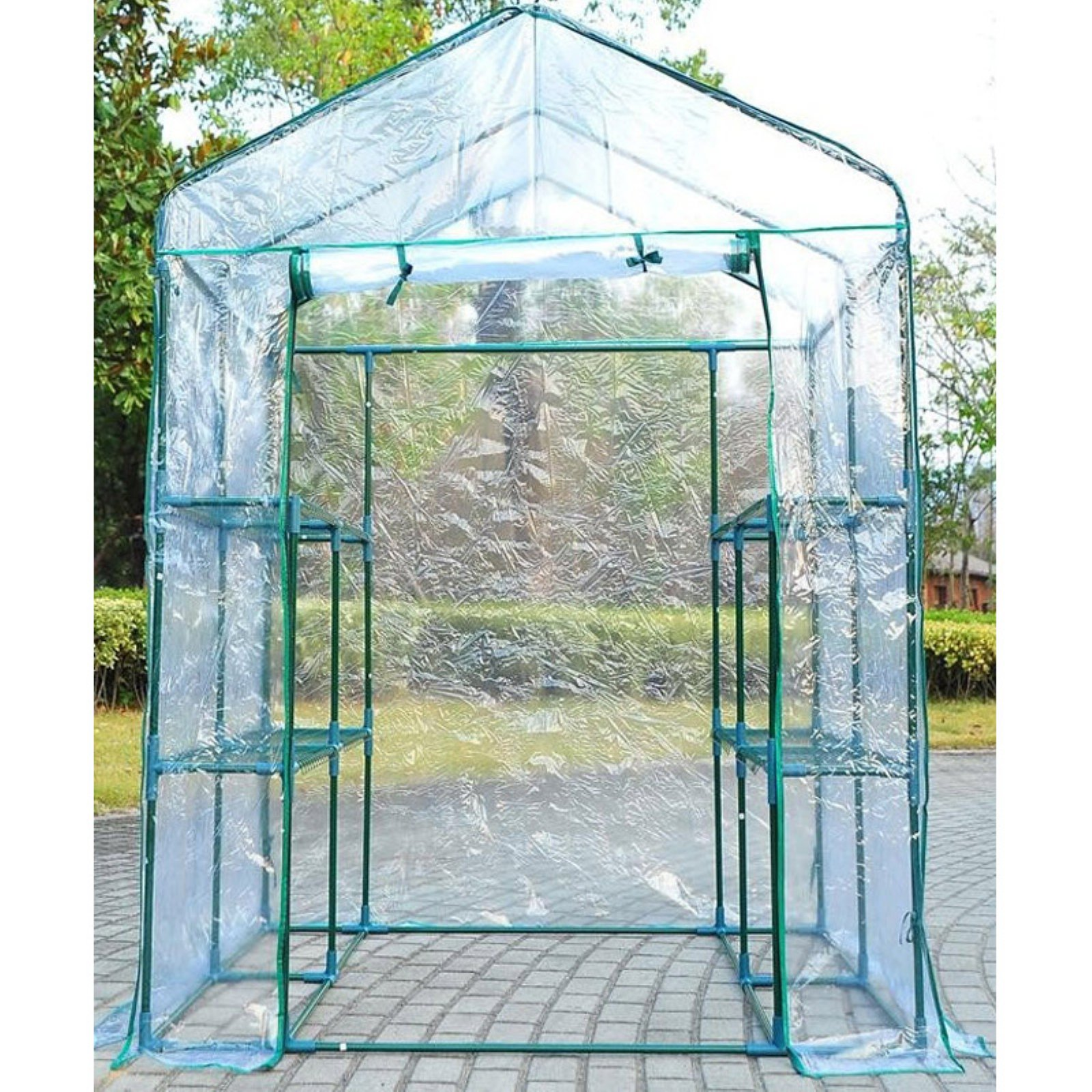 Outsunny Portable Walk-In Garden Steeple Greenhouse by Aosom