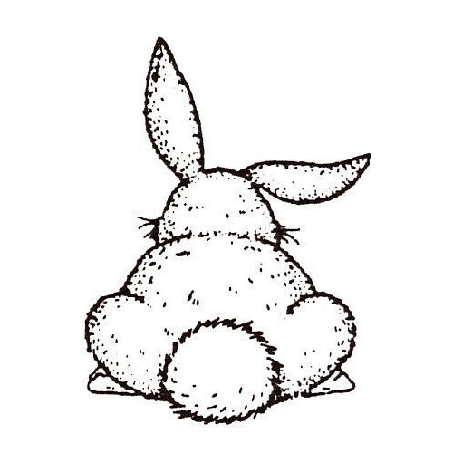 Sarasota Stamps Mounted Rubber Bunny Butt Stamp