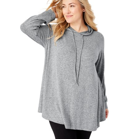 Plus Size Cozy Hooded Tunic
