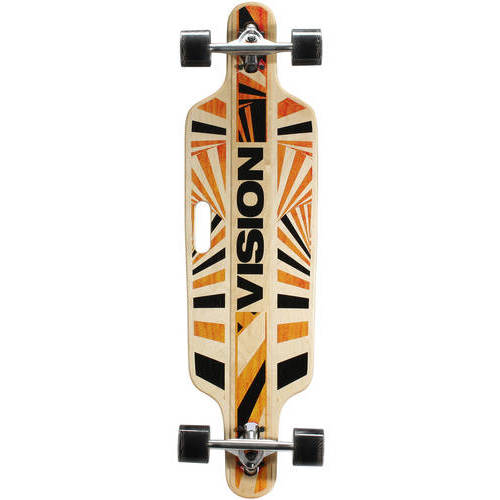 "Vision 37"" Drop-Through Longboard Complete Skateboard, 37 ..."