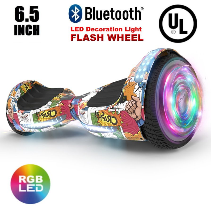 """UL2272 Certified TOP LED 6.5"""" Hoverboard Two Wheel Self Balancing Scooter Super Hero"""