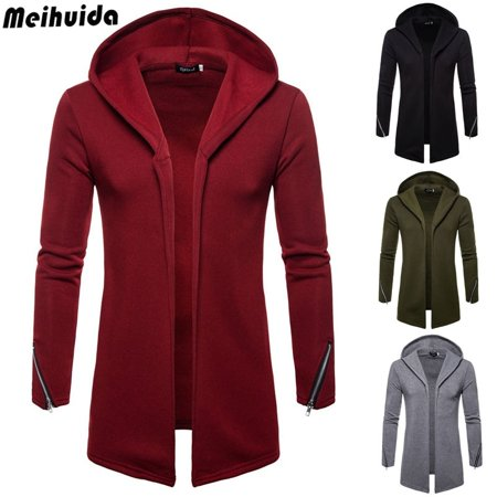 Mens Winter Warm Fleece Cargiant Thick Trench Parka Jackets Coats Winter