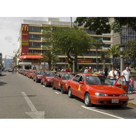 Taxis Waiting for Trade, San Jose, Costa Rica, Central America Print Wall Art By R H Productions](Party America San Jose)