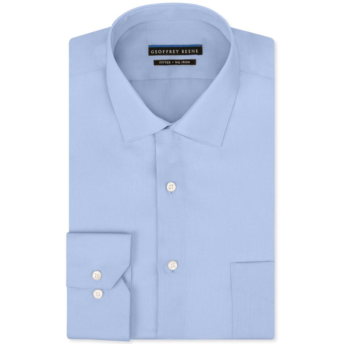Geoffrey Beene Mens Big & Tall Tab Collar Cuff Sleeves Bu...