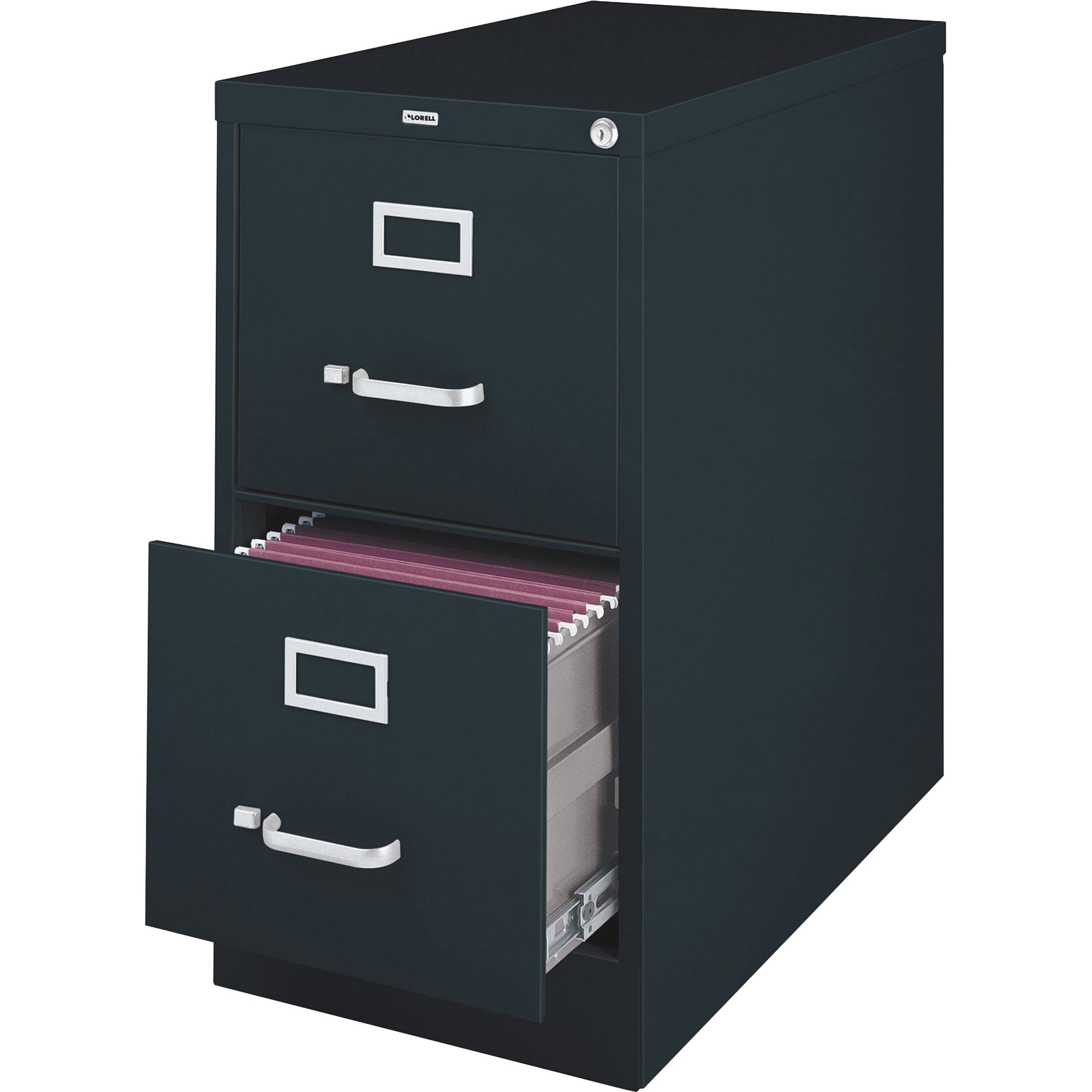 Lorell, LLR60661, Vertical File Cabinet, 1 Each, Black