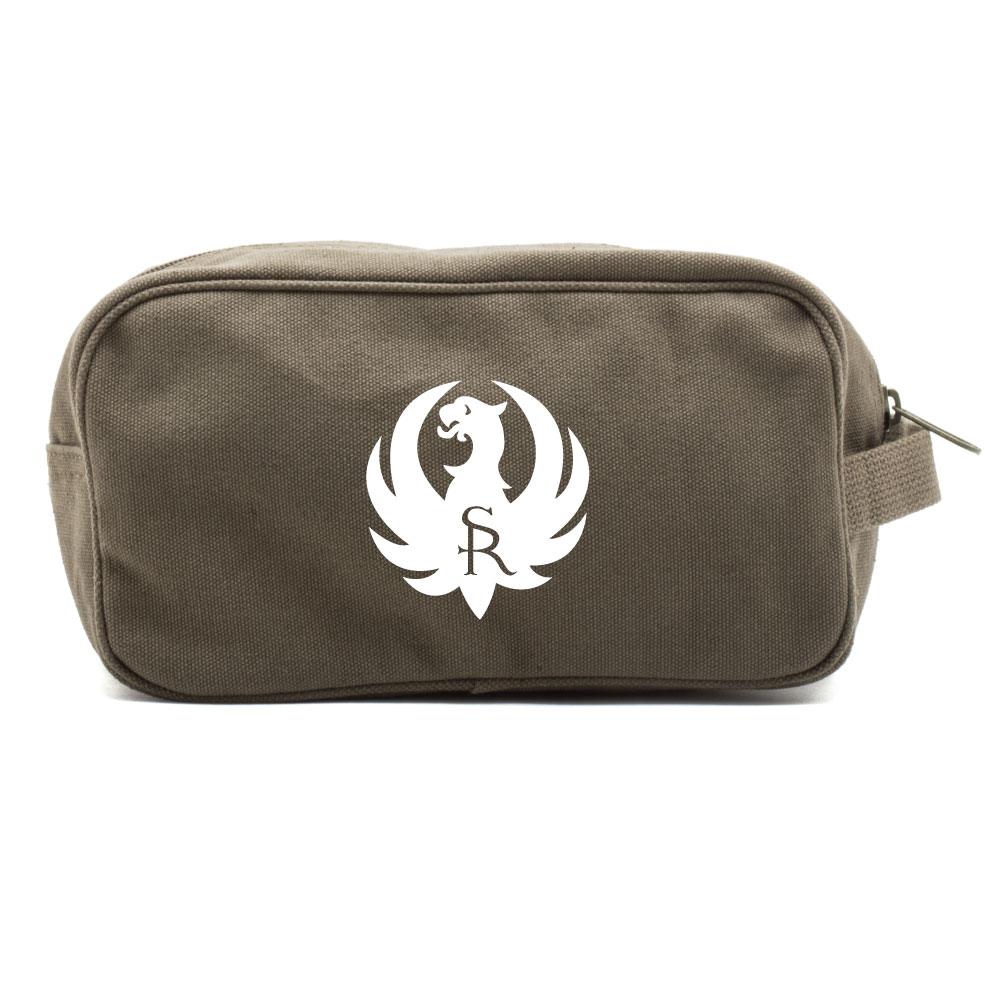 Ruger Firearms Canvas Shower Kit Dual Compartment Travel Toiletry Bag
