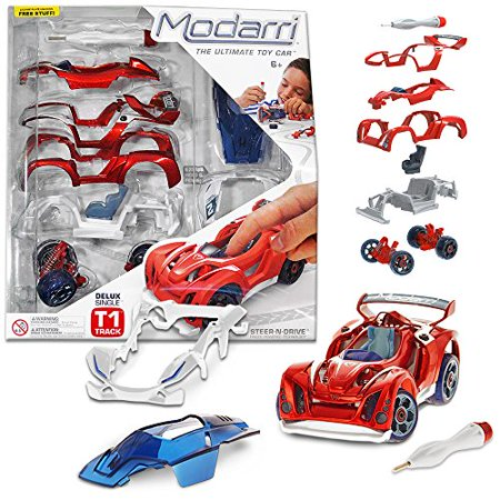 Make Your Own Car >> Modarri Delux T1 Track Car Build Your Car Kit Toy Set Ultimate Toy Car Make Your Own Car Toy Thousands Designs Real Steering Suspension