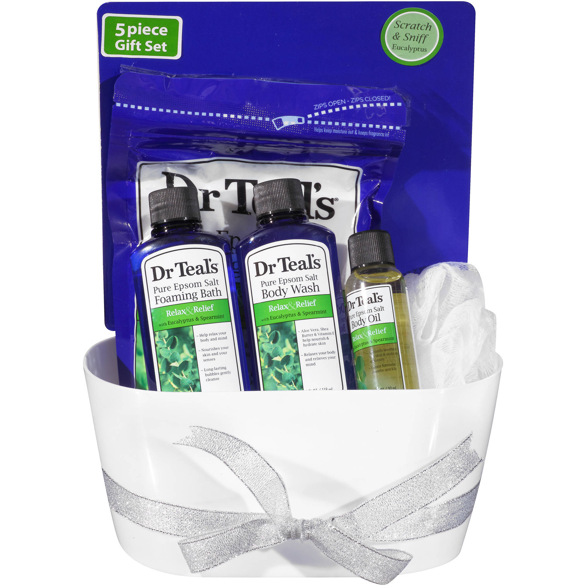 Dr Teal's Relax & Relief with Eucalyptus & Spearmint Gift Set, 5 pc