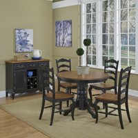 The French Countryside Oak and Rubbed Black 5PC Dining Set
