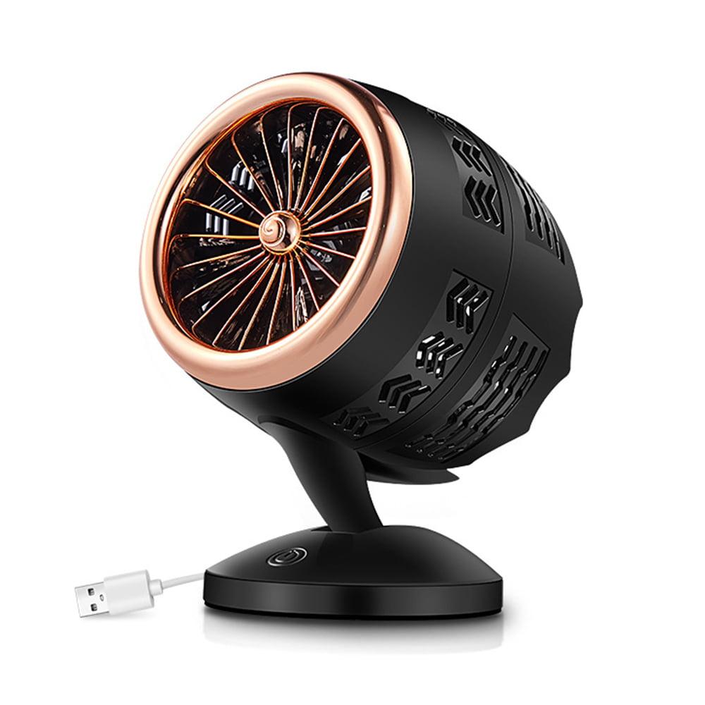 USB fan smart touch small fan double fan mini mute black big wind