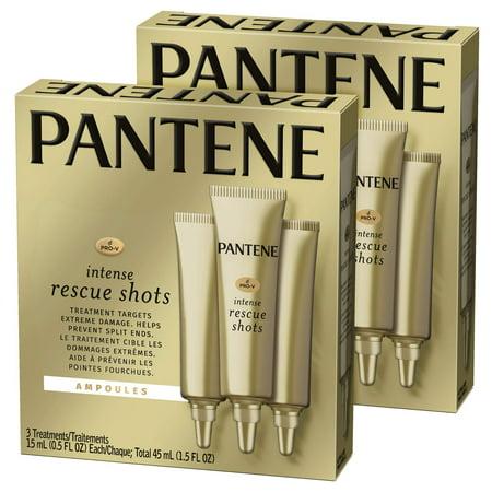 Pantene, Rescue Shots Hair Ampoules Treatment, Intensive Repair of Damaged Hair, Pro-V, 1.5 Fl Oz, Twin Pack Rescue Shots Twin Pack Intensive Hair Repair