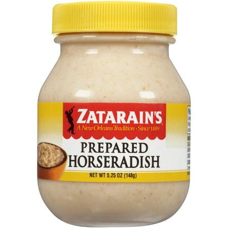 (4 Pack) Zatarain's Prepared Horseradish, 5.25 oz - Horseradish Cream Sauce