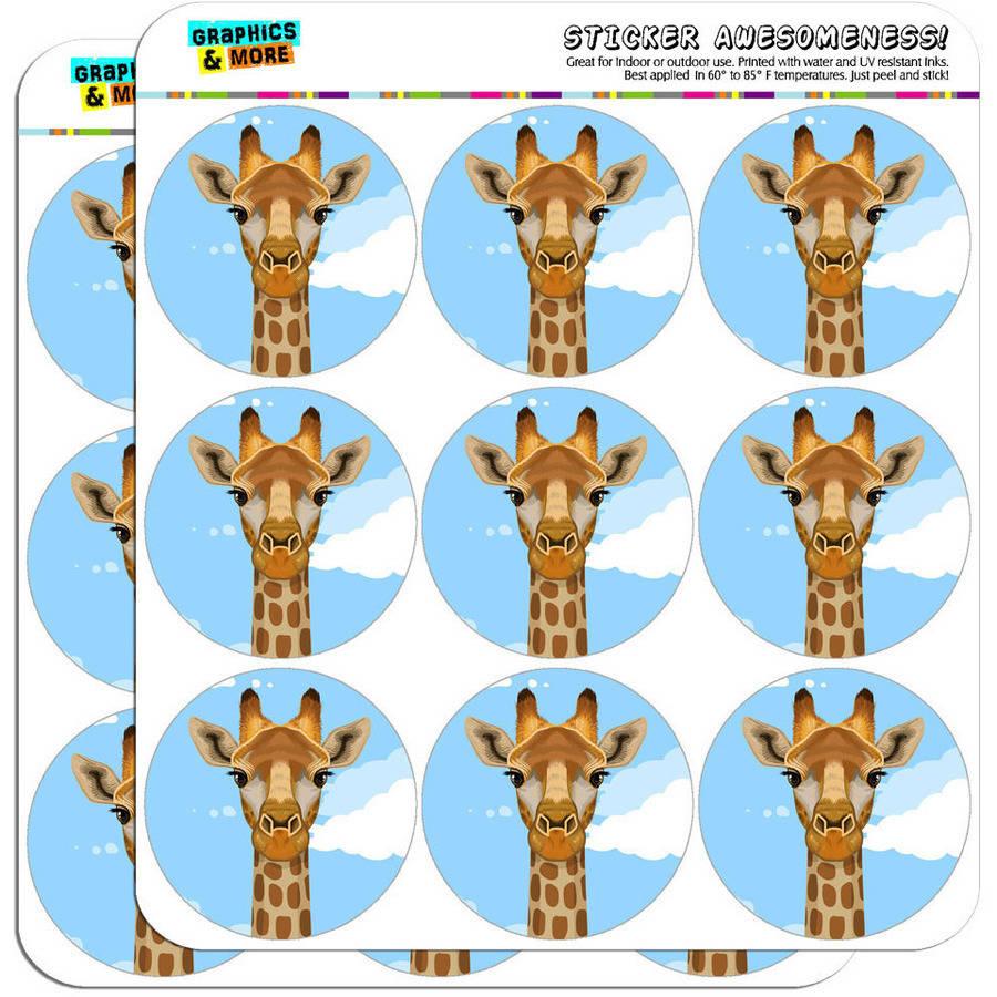 "Giraffe Zoo Animal Safari 18 2"" Planner Calendar Scrapbooking Crafting Stickers"