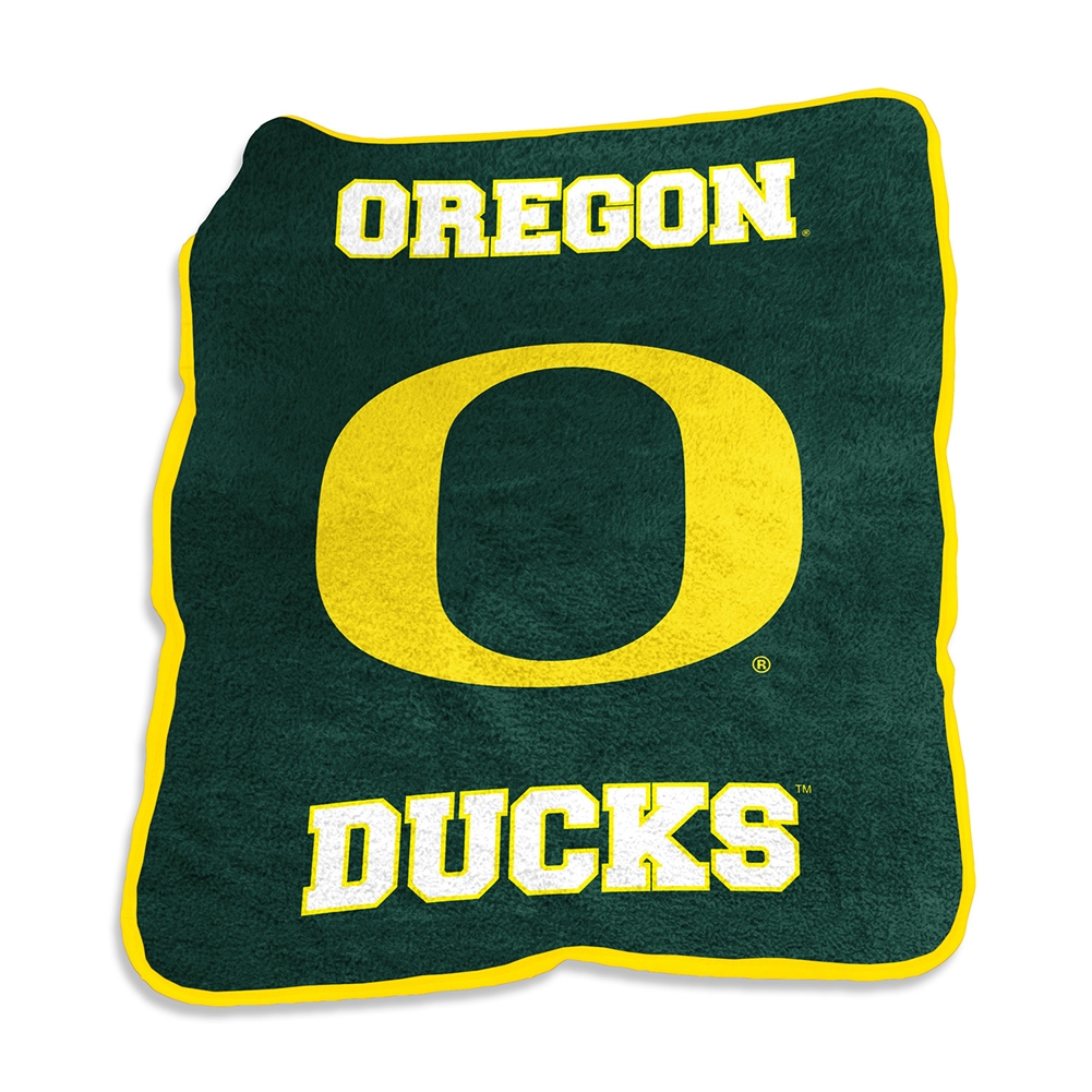 Oregon Ducks Mascot Throw Blanket