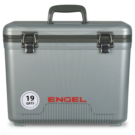 Engel 19 Quart Lightweight Bait Dry Box Ice Cooler with Shoulder Strap, Silver](Halloween Dry Ice Uk)