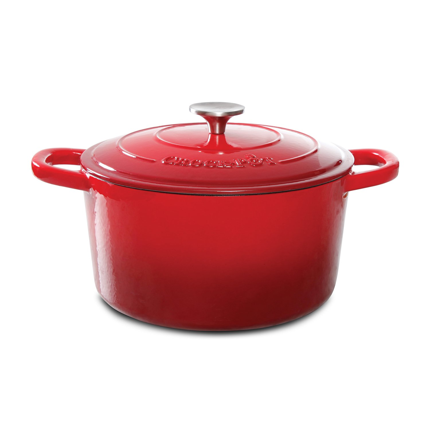 Gibson Crock Pot Cookware - 5 Quart Dutch Oven, Lid - Cas...
