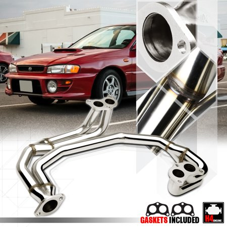 Stainless Steel Exhaust Header Manifold for 97-05 Subaru Impreza RS 2.5 EJ25 NA 98 99 00 01 02 03 04