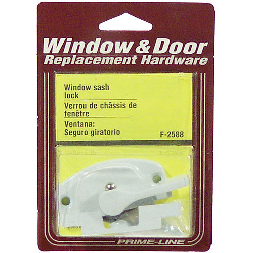 Prime Line Products F2588 White Window Sash Lock