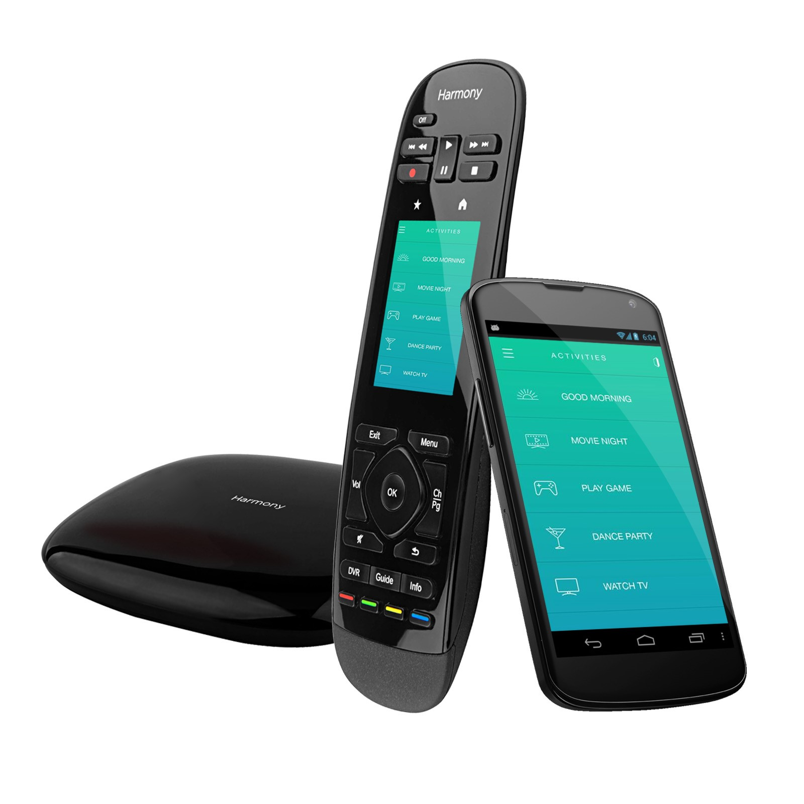 Logitech Harmony Ultimate All in One Remote with Touch Screen and Closed Cabinet RF Control (Black) Certified (Certified Refurbished)