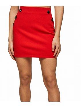 Womens Skirt Petite Straight Pencil Button 0P