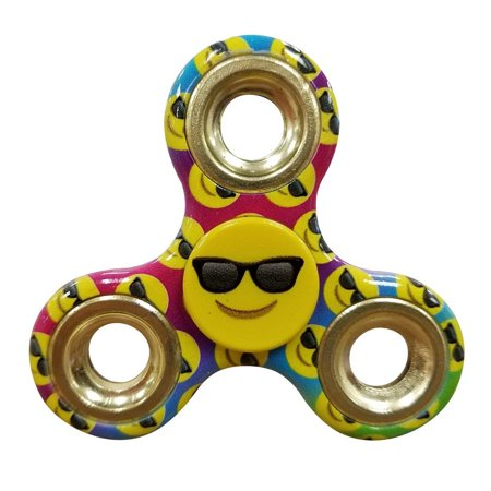 Emoji Fidget Spinner Toy   Helps Relieves Symptoms Of Stress Boredom Adhd Add   Helps Focus At School Class Home Work   Sunglasses Smile