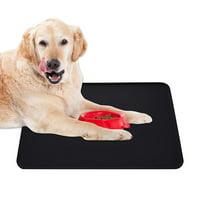 FeelGlad Silicone Waterproof Dog Cat Pet Food Mats Tray, Non Slip Pet Dog Cat Bowl Mats Placemat, Dog Pet Cat Feeding Mat, Black