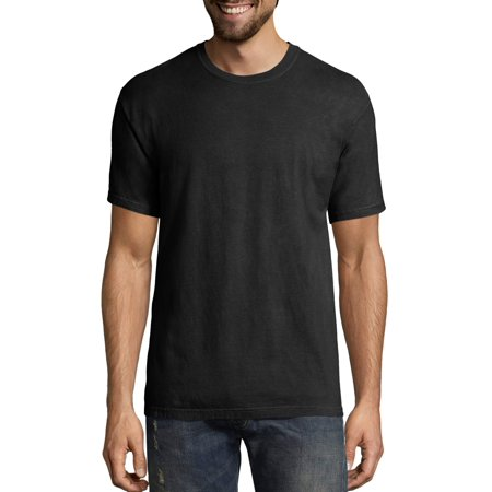Hanes Big men's comfortwash garment dyed short sleeve tee (Hanes Black Skirt)