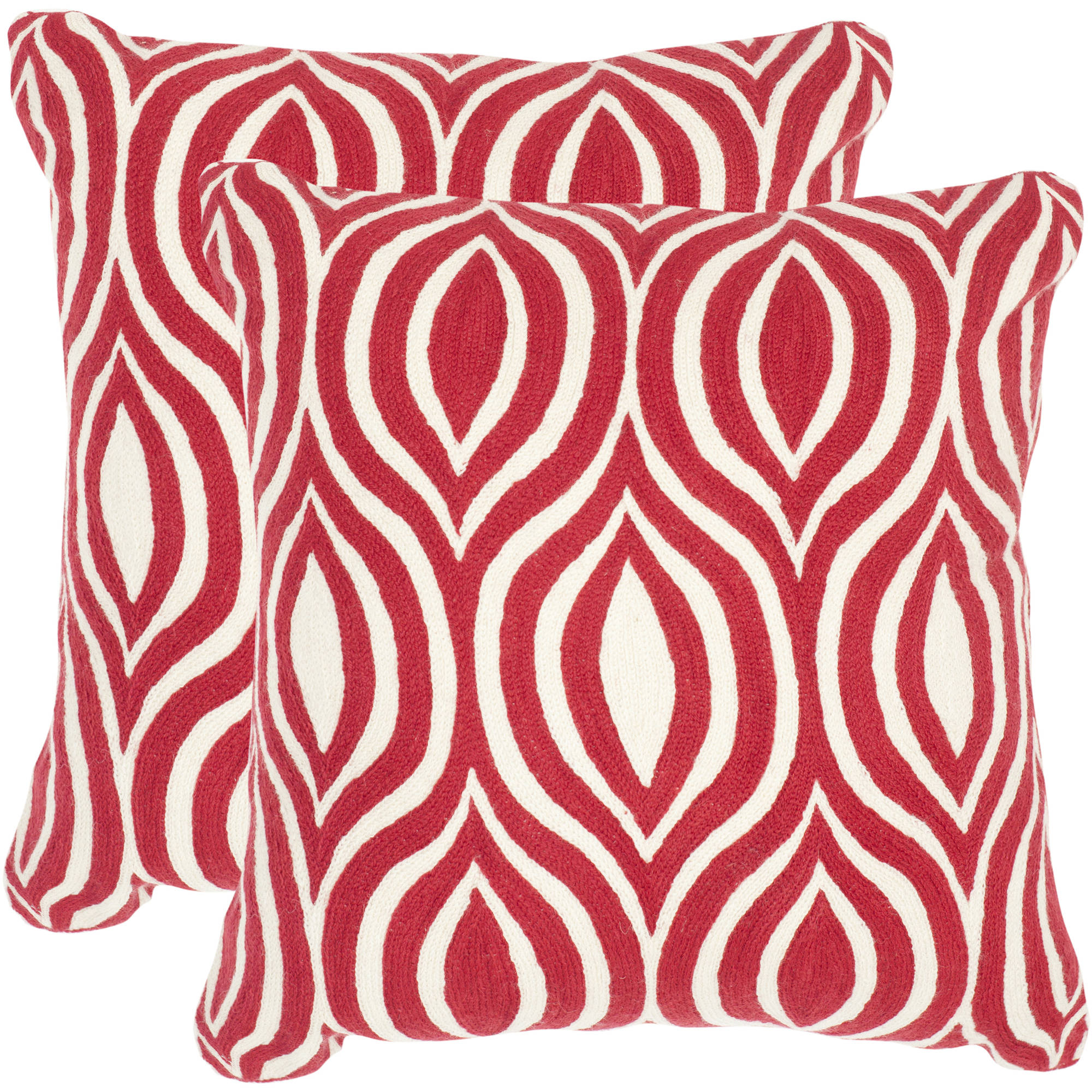 Safavieh Metis Red Pillow, Set of 2
