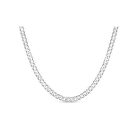 Sterling Silver Curb 100 Gauge Chain Necklace 30 Inches