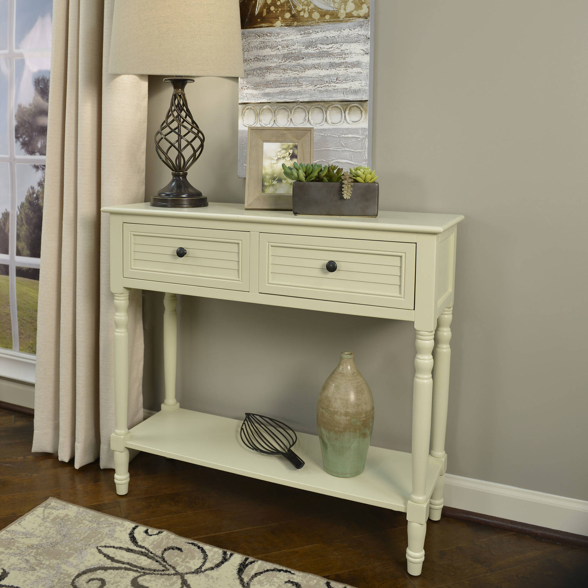 Better Homes and Gardens Shutter 2-Drawer Console Table, Multiple Colors