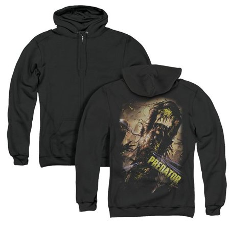 Trevco Sportswear TCF598BK-AZH-1 Predator & Heads Up Back Print Adult Zipper Hoodie, Black - Small - image 1 de 1