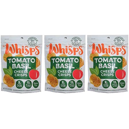 - Cello Whisps, Tomato Basil, Low Carb Keto Snack, 3 Pack