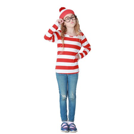 KABOER US Boys Girls Red and White Fancy Dress Cosplay Costume World Book Day S/M/L/XL](Party At Display And Costume)