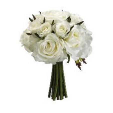 Seed Confetti (FBQ749-WH 9 in. Confetti Rose Bouquet White- Pack of)