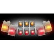 Recon Cab Lights (Recon 264160Cl Cab Lights Hummer 02-06 )