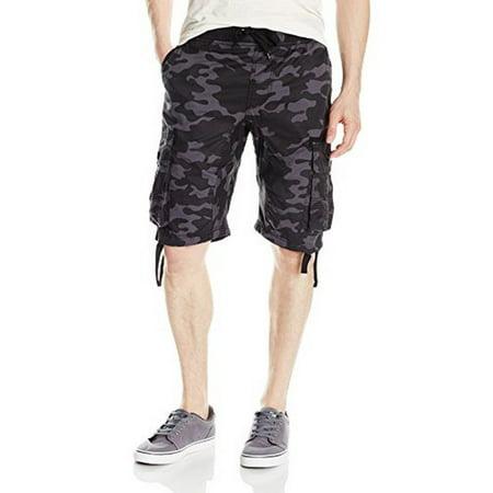 cf0457ab93 SOUTHPOLE - Young Mens Southpole Fine Twill Cargo Shorts, Black -  Walmart.com