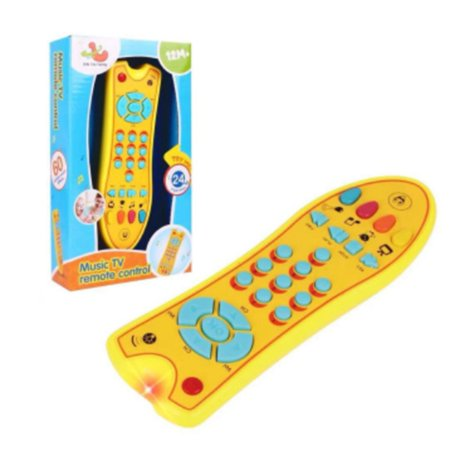 Baby Remote Control Toys with Multi-Function - Music Learning Remote for 1 2 3 4 5 Year Old Toddlers,Boys and Girls Best Gift
