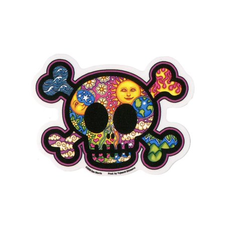 Dan Morris - Cute Skull and Crossbones - Sticker / Decal - Skull And Crossbones Stickers